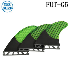 Wakeboard Future G5 Surfboard Fin Fiberglass Honeycomb G5 Fins Carbon Fiber Green Fins in Surfing New Design кабель hdmi 4 5м gembird cc hdmi4l 15 круглый черный