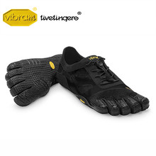 цена на Vibram Fivefinger KSO EVO Men Mesh Sneakers Five Fingers Fast lacing Slip Light Weight Running Indoor Fitness Playa Rubber Shoe