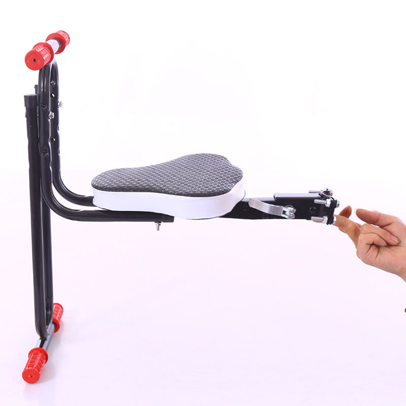 Safe Protect Quick Release Front Kids Saddle Mountain Bike Electric Folding Child Safety Seats Front FZZ001 gub 116 titanium axle safety quick release mountain bike bicycle use al6061 t6 tc4 light weight quick dismantling mtb