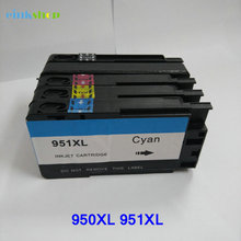 Compatible Ink Cartridge For HP 950XL Black 951XL Cyan Magenta Yellow Ink For Officejet Pro 8600 Plus e-AIO lcl 707 crg707 4 pack black cyan magenta yellow toner cartridge compatible for canon i sensys lbp5000 5100