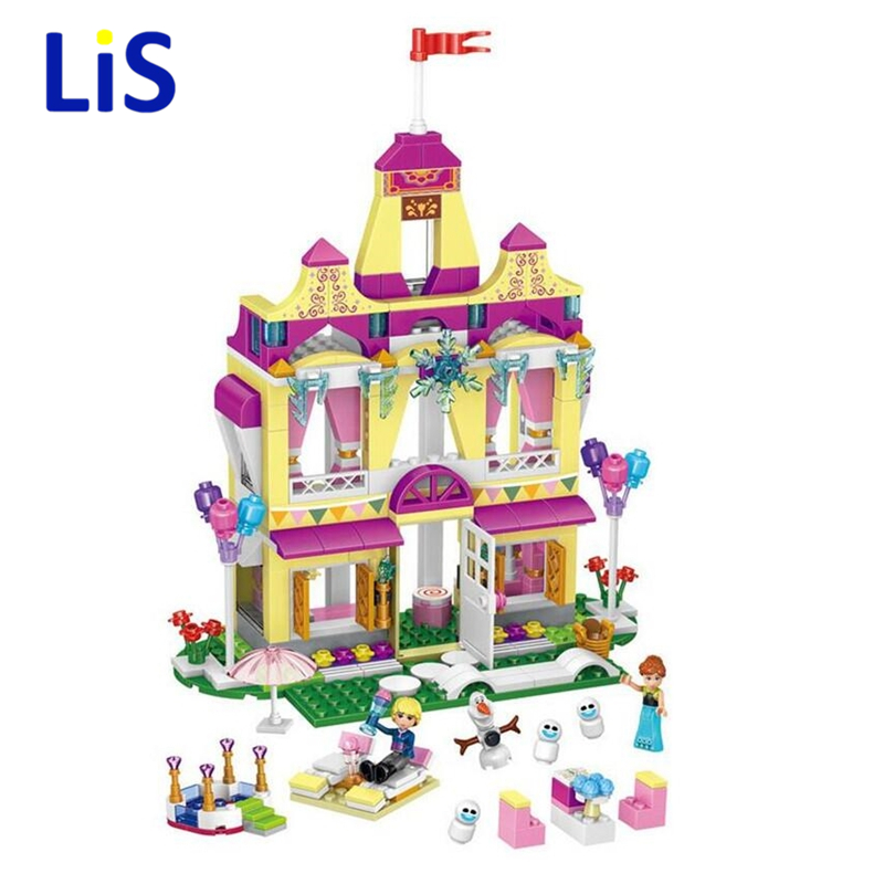Lis 37007 new Model Building Kits blocks toys Princess Anna and prince of the castle for Children Gift Compatible Lepin 41068 new 37008 561pcs girl friends princess anna and the princess castle building kit blocks bricks toys for children gift brinquedos