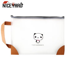 Zipper Bag Pouch Transparent zipper file bag Student Documents Pouch Home Office Storage Stationery Storage Pen Case Bag(China)