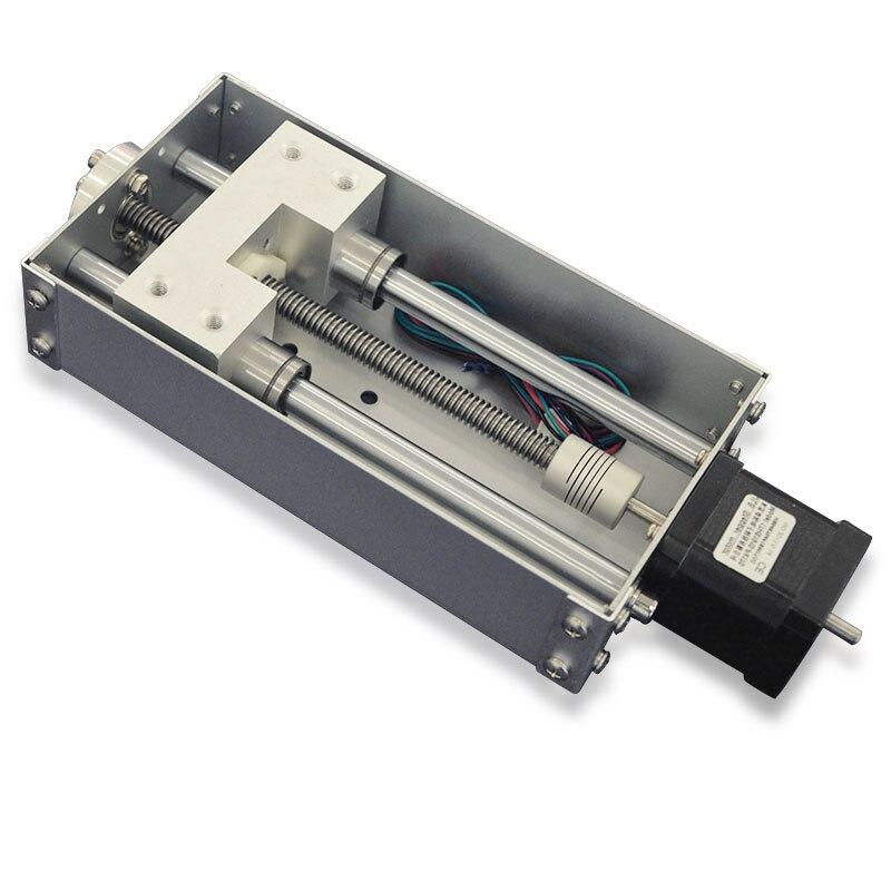 Haute qualité manuel Table coulissante SFU1605 course efficace 100mm Guides linéaires croix glissière Table C7 précision CNC Machine