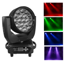 Hoge Kwaliteit 19x15w RGBW LED Wash Zoom Moving Head Licht/DMX LED Moving Head Wasmachine Podium verlichting/Roterende Disco DJ Bar Lamp(China)