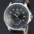Nova Marca de Luxo Winner Men Automatic Auto-liquidação Relógios Mecânicos Pulseira de Couro Banda Homens relógio de Pulso Casual Relógios reloj