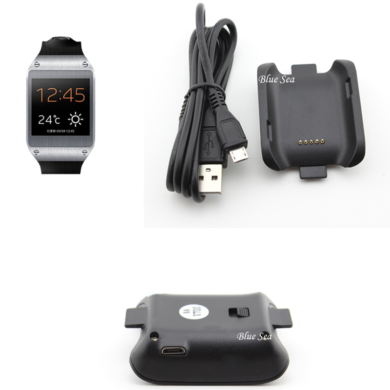 20 PCS Wristwatch Charger For Samsung Galaxy Gear V700 Wholesale Smart Watch Sm-V700 Adapter With Micro-Usb Cable