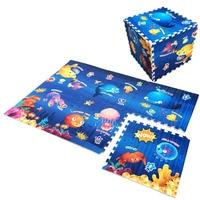 Baby EVA Foam Play Puzzle Mat 60cmX60cm 6pcs Set Interlocking Exercise Tiles Floor Mat For Kid