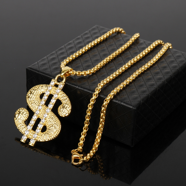 US Dollar Rhinestone Necklace 4