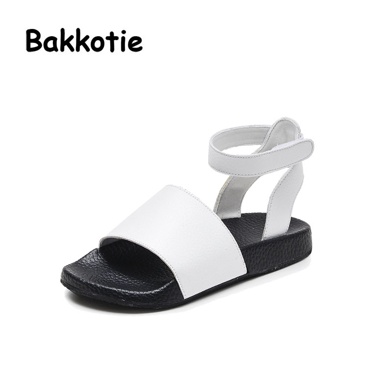 Bakkotie 2017 New Fashion Summer Baby Girl Breathable Casual Shoe Black Kid Brand Toddler Leisure White