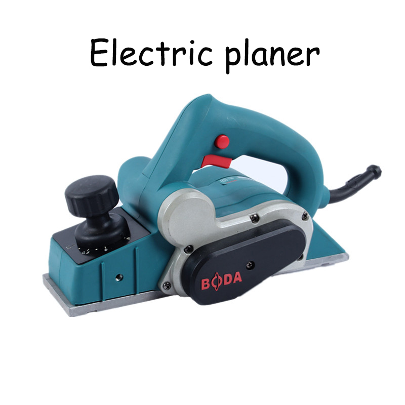 Electric Woodworking planer household handmade carpentry small wooden planing machine woodworking planer household desktop woodworking planer machine multi functional diy electric planer wood planing machine 220v 1pc