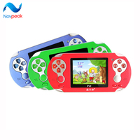 10pcs/lot Children 3.0 inch Handheld game console 300 different Games and learning machine player game card and study card