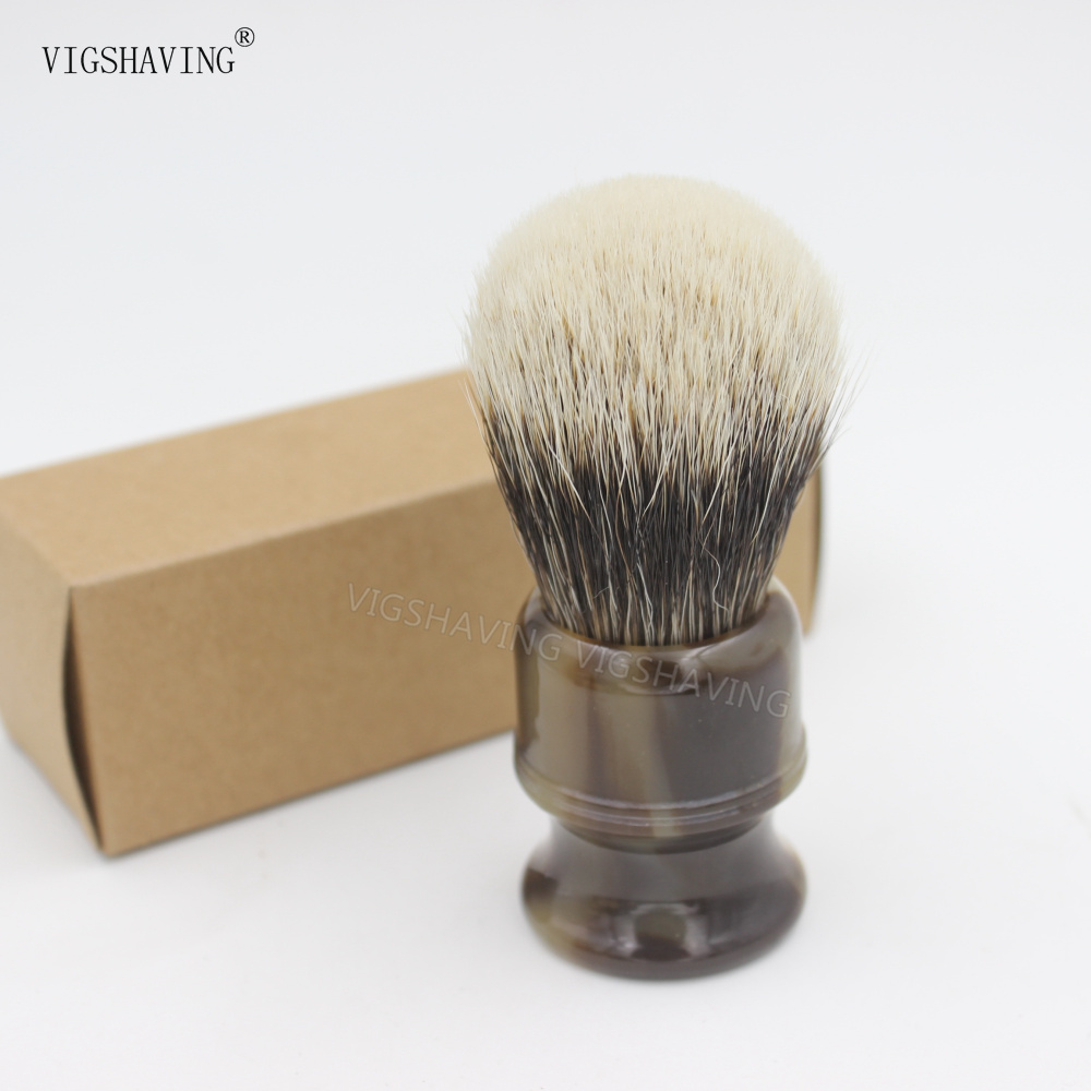 Resin Handle Finest 2 band Badger Hair Shaving Brush their finest