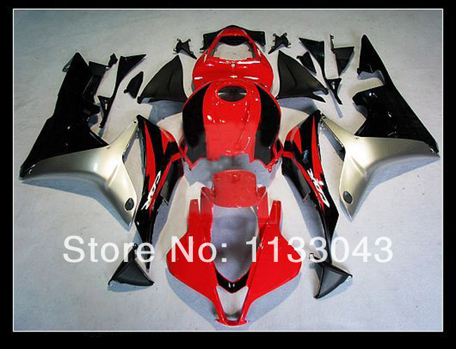 100%fit injection silver red black fairing kits for honda cbr 600 rr 07 08 f5 2007 2008 cbr600rr 2007