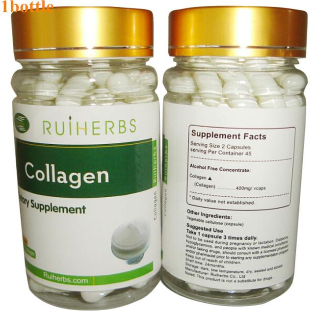 1 Botella Cápsula 500 mg x 90 unids de Pescado Puro Colágeno Colágeno Anti-Envejecimiento Belleza envío gratis