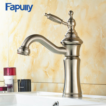 Fapully Stainless steel basin faucet mixer single handle bathroom sink