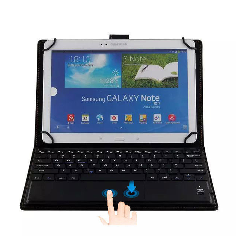 Wireless Removable Bluetooth Keyboard Case Cover Touchpad For Samsung Galaxy Tab E 9.6 T560 T561 T567 T567V Pro 10.1 T520 T525 wireless bluetooth keyboard with touchpad leather cover case for samsung galaxy note pro tab pro 12 2 inch p900 p901 p905