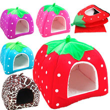SUEF Strawberry litter foldable pet cat and dog litter tent warm mattress dog litter dog bed pet accessories home and outdoor@02(China)