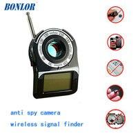 (1 adet) Kablosuz Sinyal Bulucu Anti-SPY Tam Menzilli RF Kamera Dedektörü Protable GSM Sensörü Mini Kamera kullanımı Otel Için Ücretsiz Shippi