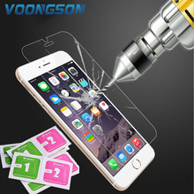 VOONGSON Arc For iPhone 6S tempered glass For iPhone 7 7 Plus 5 6 4 screen protector iPhon 5S tempered protective film ipone SE 0 3mm anti uv tempered glass screen film cover for iphone 6s 6 4 7 arc edge black