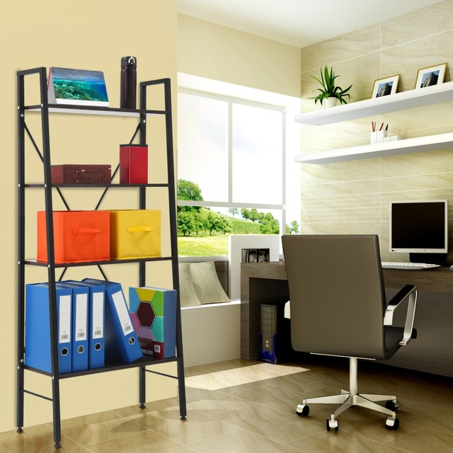 Charmant LANGRIA 4 Tier Ladder Bookcase Storage Shelves And Display Standing  Shelving Unit Holders Racks For
