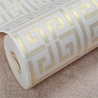 Gold Silver PVC Wallpapers Rolls Textured Black White Wallpapers Geometric Metallic Vinyl Wall Paper Home Decor Living Room