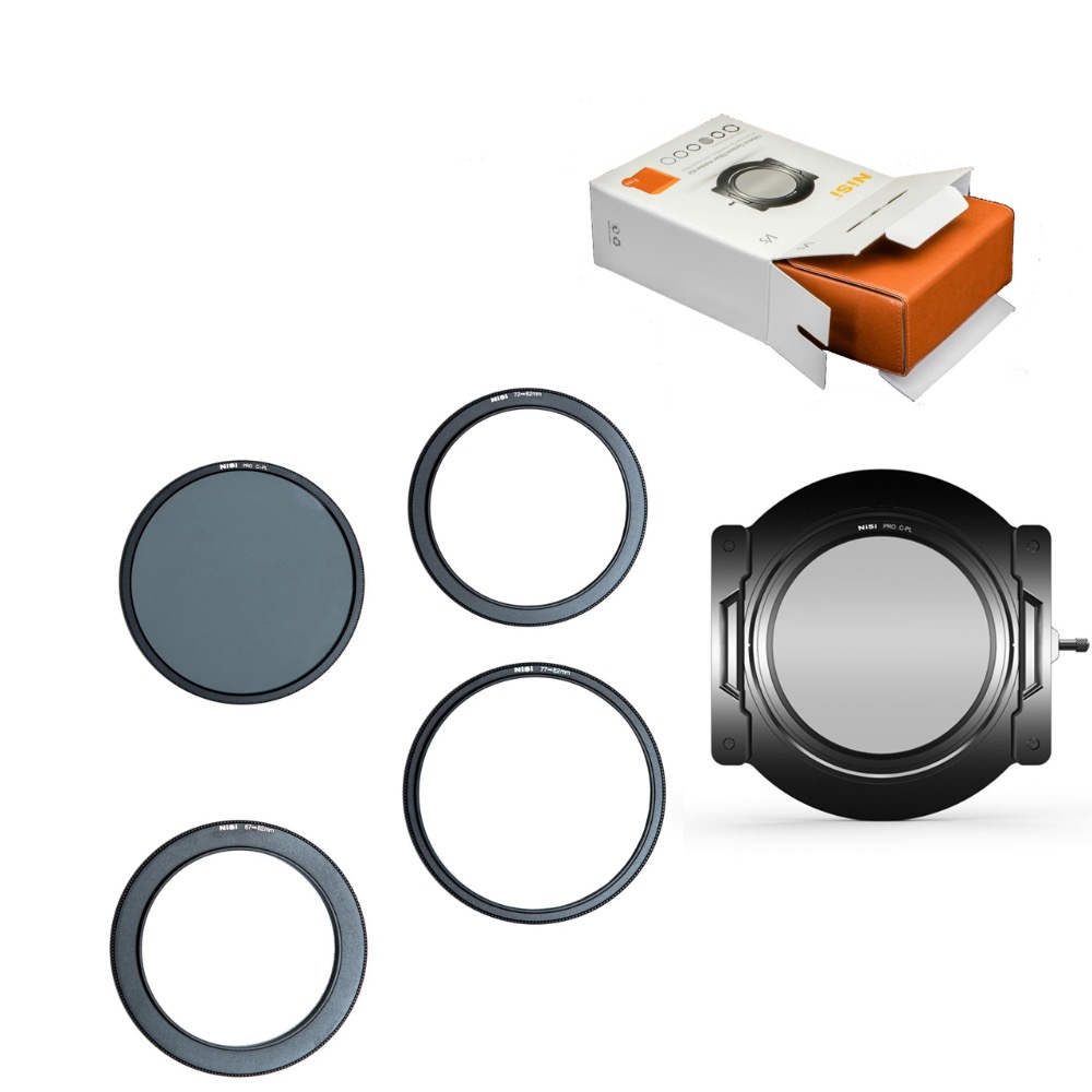 NiSi V5 PRO Kit 100mm Glass Square Filter Aviation Aluminum 67mm Ring Mirror Bracket Square Plug-in Sheet System For Nikon Canon