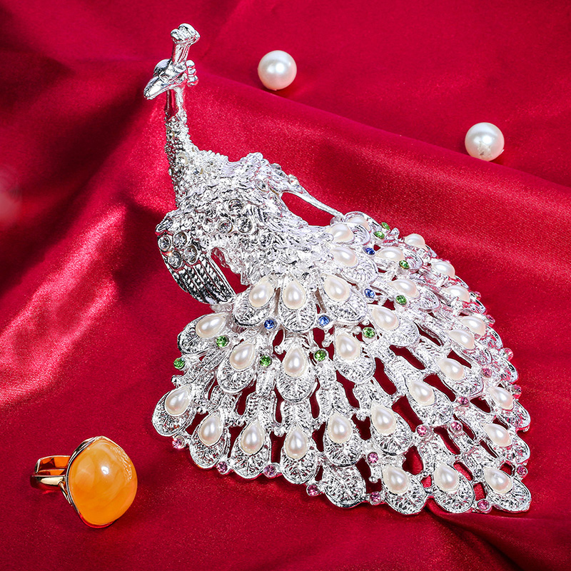 Aliexpresscom Buy Luxury Silver Peacock Rinestones Jewelry