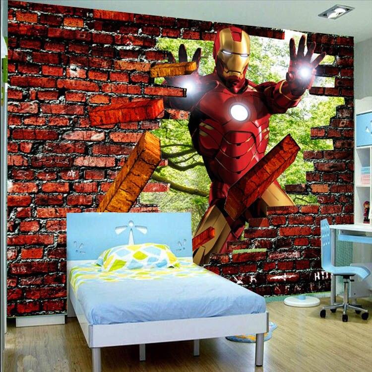 Aliexpresscom Buy Iron man Brick Photo Wallpaper Avengers