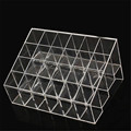 24 Grids Trapezoid Makeup Display Stand Lipstick Case Cosmetic Organizer Holder Transparent Shelf