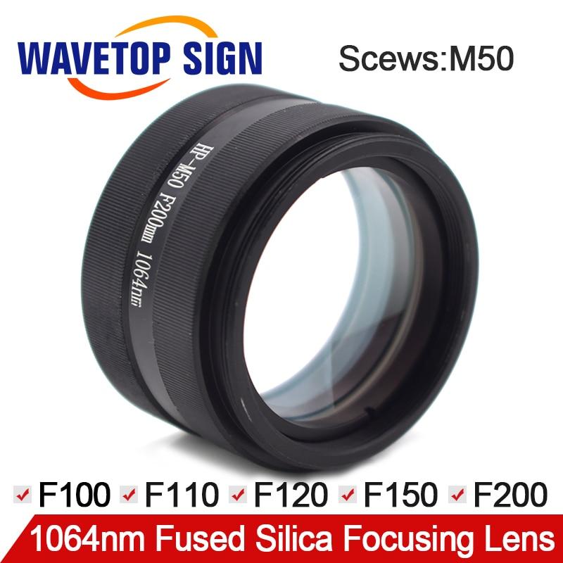 Laser focusing lens laser welding machine focus lens M50F120 3 lenses combined scews M50 focus 100 110 120 150 200mm цена