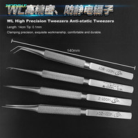 Wozniak High Precision Maintenance Tweezers WL Special Bend Straight 0 1mm Stainless Steel BGA Motherboard Flying