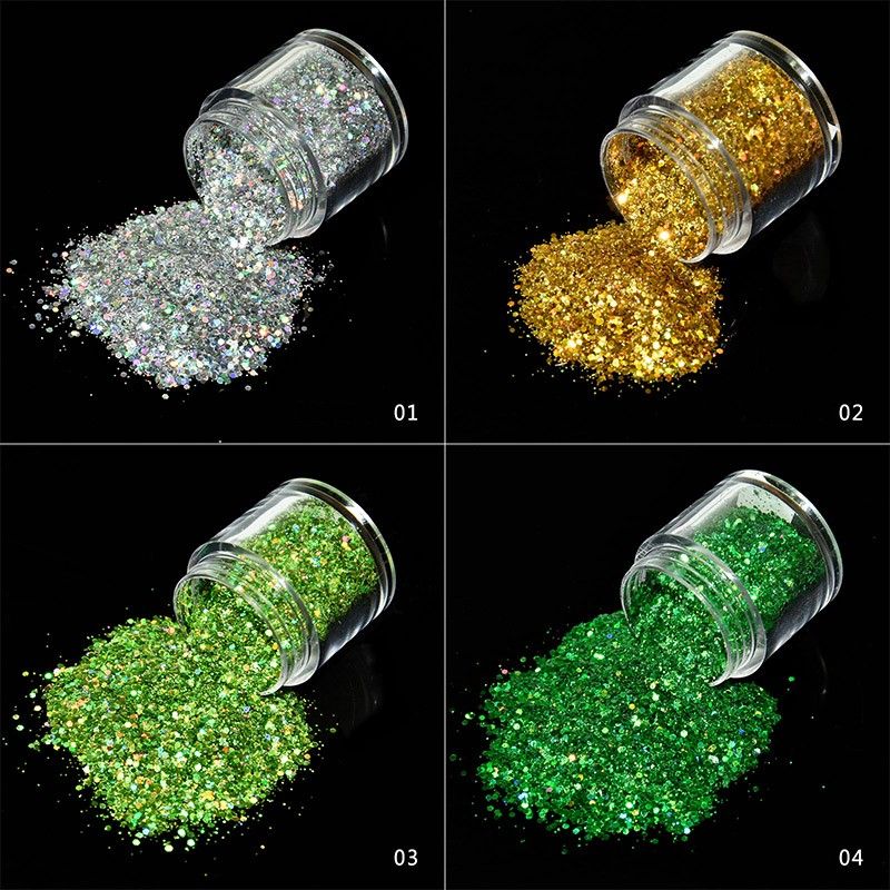 Nails Art & Werkzeuge 10g Holographische Laser Nagel Glitters Holo Regenbogen Nagel Kunst Pulver Nagel Tipp Glitter Pailletten Maniküre Nail Art Dekorationen Fma01-12 Professionelles Design