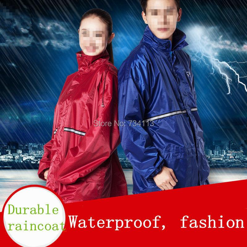 Traje de lluvia (coat + pant) delgada pesada moda impermeable bicicleta eléctrica impermeable dividida motocicleta del montar a caballo adultos envío gratis