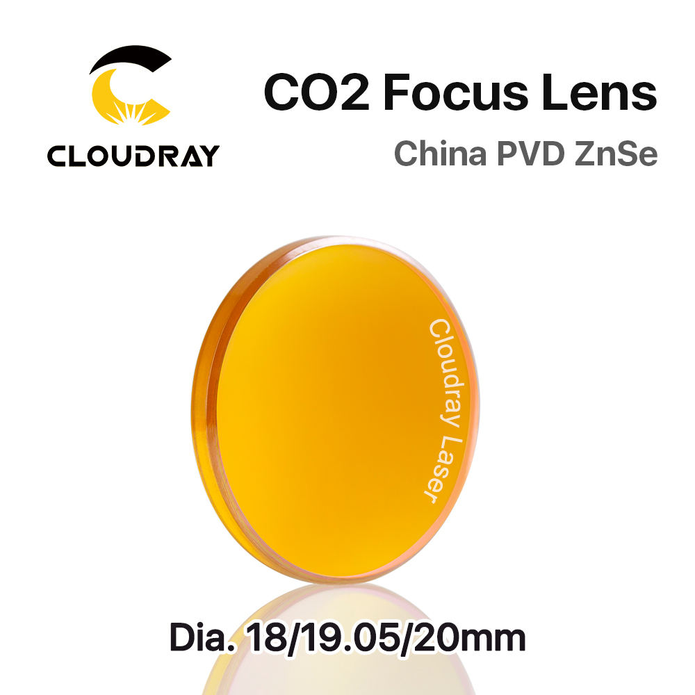 Cloudray China CO2 ZnSe Focus Lens Dia.18 19.05 20 mm FL38.1 50.8 63.5 101.6 127mm 1.5 - 4 for Laser Engraving Cutting Machine china znse co2 laser lens 20mm dia 50 8 focus length for laser cutting machine