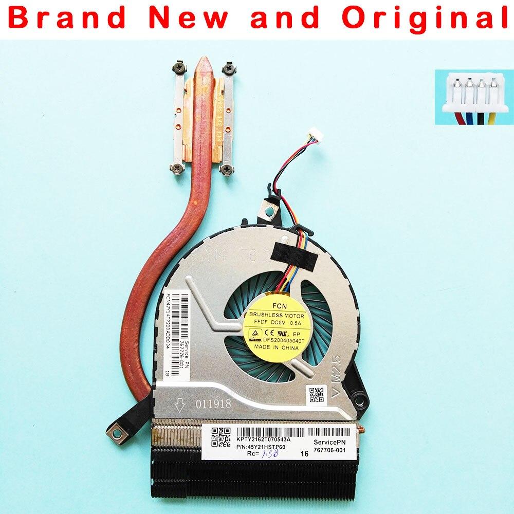 HK-PART Fan Replacement for HP Pavilion 15-V 14-V 15-P 14-P CPU Cooling Heatsink P//N 773449-001