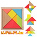 2017 New Hot Large Size Children Toy Geometry Wooden Jigsaw Puzzle Mental Development Tangram Puzzle Educational Toys for Kids
