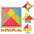 2017 nueva caliente de gran tamaño de niños rompecabezas de madera de juguete geometría desarrollo mental tangram puzzle juguetes educativos para niños