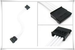 Winkool conector molex 4pin sata, adaptador/cabo de extensão, branco, várias cores