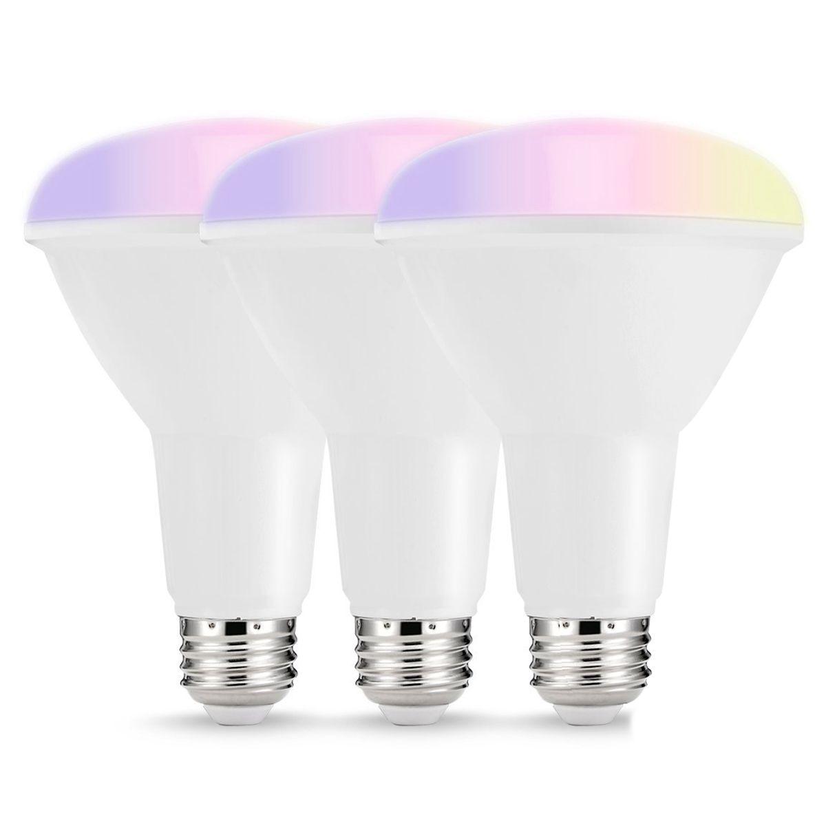 SHGO-Smart LED Bulbs Multicolored WIFI LED Lights  BR30 Dimmable Recessed Light Bulbs  75W-80W Equivalent Flood Light title=