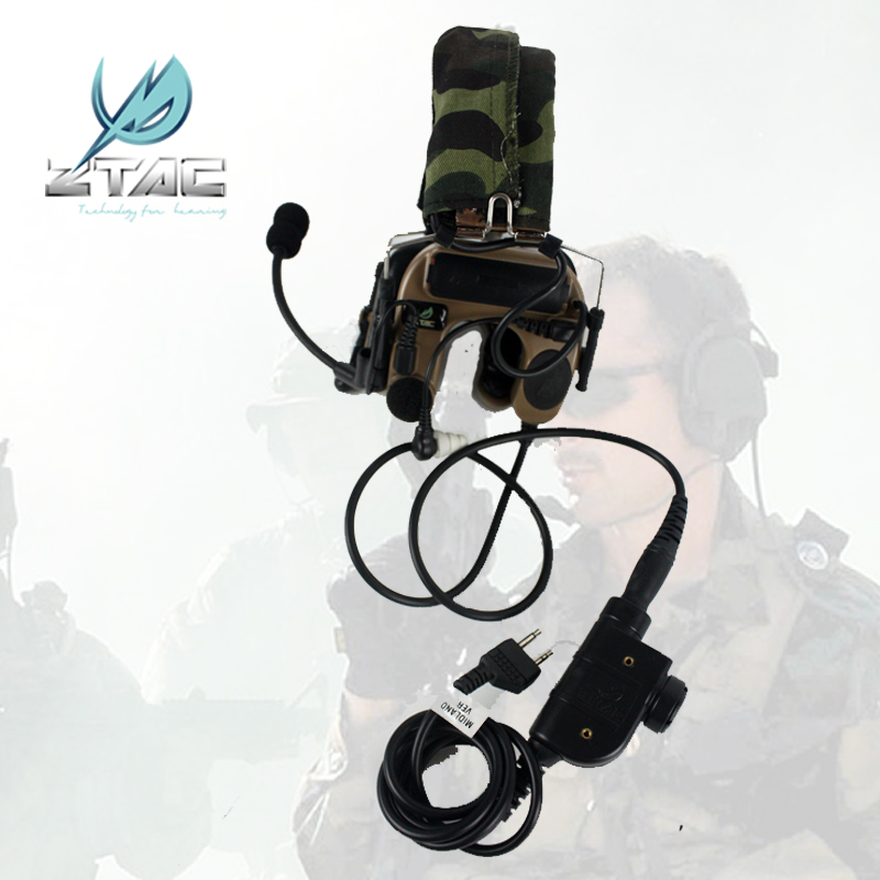 Element Air Gun Z-TAC Comtac IV Arsoft Headset Noise Headphones z tac PTT kenwood Airsoft All For Hunting Earphones Tactical new z tac comtac iii headset c3 dual channel pickup noise reduction headset airsoft hunting earphone