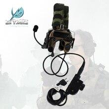 Z038 Z- 전술 전투 Zcomtac IV 헤드셋 Z114 지원 표준 전술 소음 제거 헤드폰 헤드셋 PTT