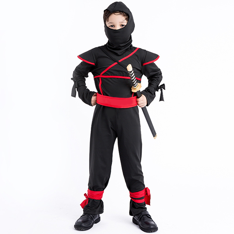 3-12Y Kids Ninja Costumes Halloween Party Boys Girls Warrior Stealth Children's Day Cosplay Assassin Costume