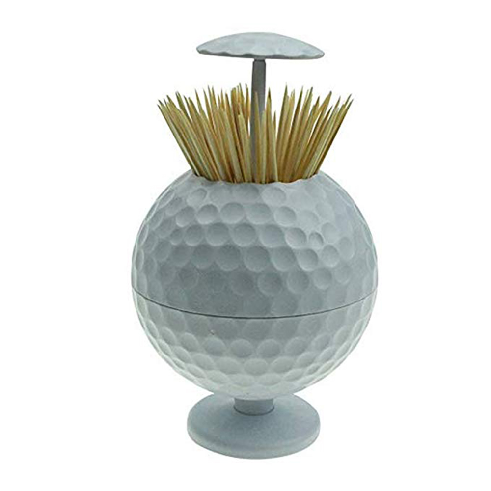 CRESTGOLF Golf Ball Shaped Automatic Pop-up Toothpick Holder Novelty Gift Golf Decoration