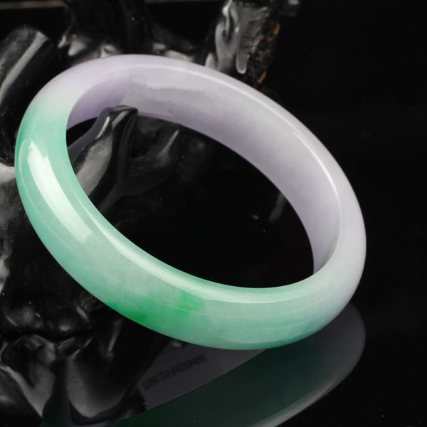 Pure natural color stone ice myanmar violets green bracelet/appraisal certificate gift boxes myanmar crater natural bracelet bracelet a stock with a certificate js