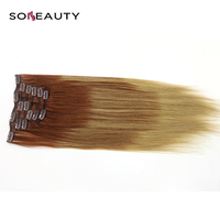 Non Remy Straight Clip In Human Hair Extensions 141618202224100% Human Hair Clips In Hair Extensions