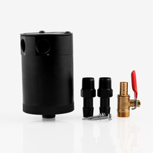 Universal Car Air Oil Separation Pot 2 Colors Two - Hole Oil Catch Tank with Air Filter Oil Separator Auto Accessories цены