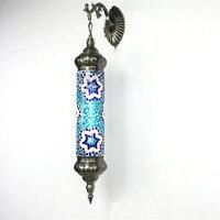 Новый Средиземноморский стиль Книги по искусству деко Турецкая мозаики настенный светильник ручной работы Mosaic Стекло Романтический насте