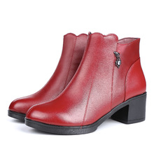 fb2a8473316 ZZPOHE 2019 Women Fashion Boots Ladies genuine leather high heels ankle boots  female autumn winter casual
