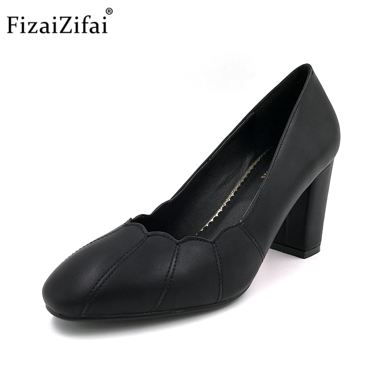 Heeles Rond Carré Talons Loisirs Slip blanc rouge Pompes Lady Femmes sur Dames Bout Haute Size32 Fizaizifa Noir Office Chaussures Marque 42 qwppOv