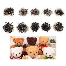 100 шт./пакет DIY игрушки куклы глаза черный Пластик защитные глаза куклы кукла с шайбами